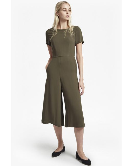 French Connection - Green Esther Crepe Jumpsuit - Lyst
