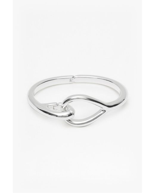 French Connection | Metallic Core Chunky Clasp Bracelet | Lyst