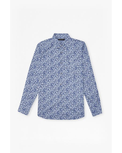 French Connection | Blue Designed Washed Ls for Men | Lyst