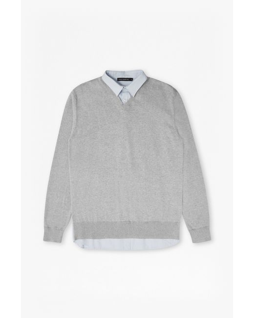 French Connection | Multicolor Shirt Knit Hybrid Sweater for Men | Lyst