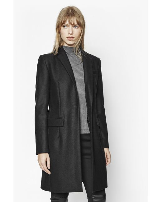French Connection | Black Milo Melton Tailored Coat | Lyst