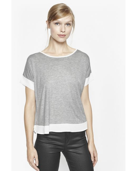 French Connection | Gray Plain French Top | Lyst