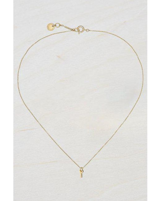 French Connection - Metallic Mini Key Necklace - Lyst
