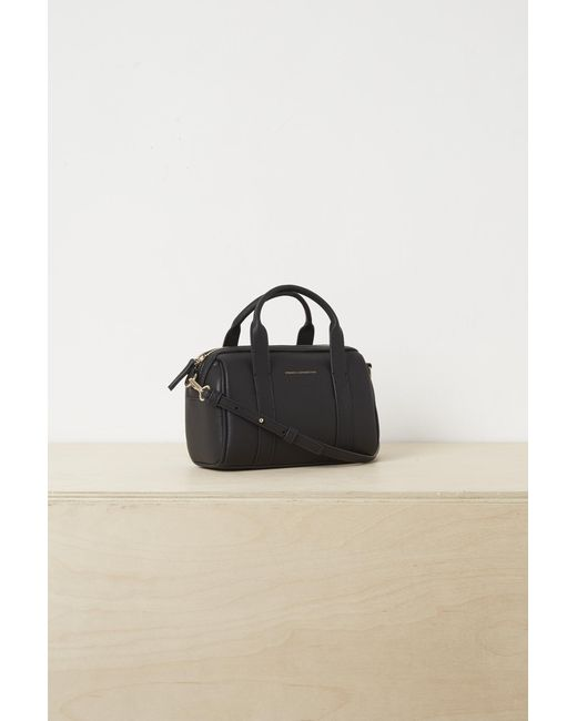 ... French Connection - Black Roma Recycled Leather Mini Bowling Bag - Lyst  ... fc13f064b891b