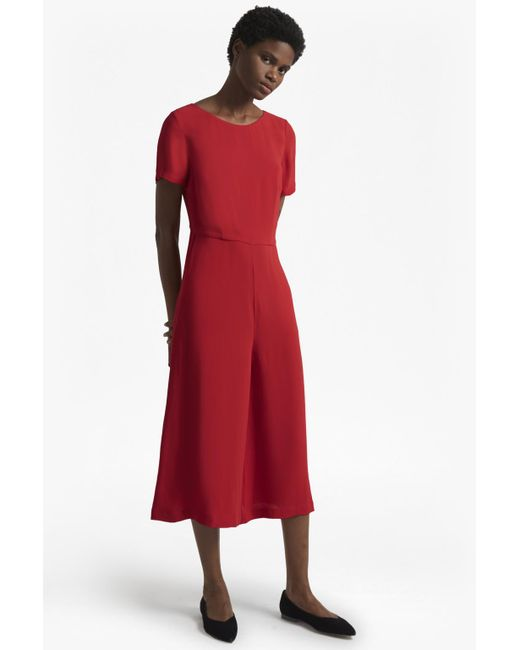 French Connection - Red Esther Crepe Jumpsuit - Lyst