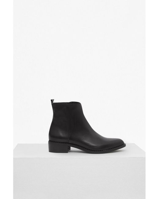 French Connection - Black Verity Studded Ankle Boots - Lyst
