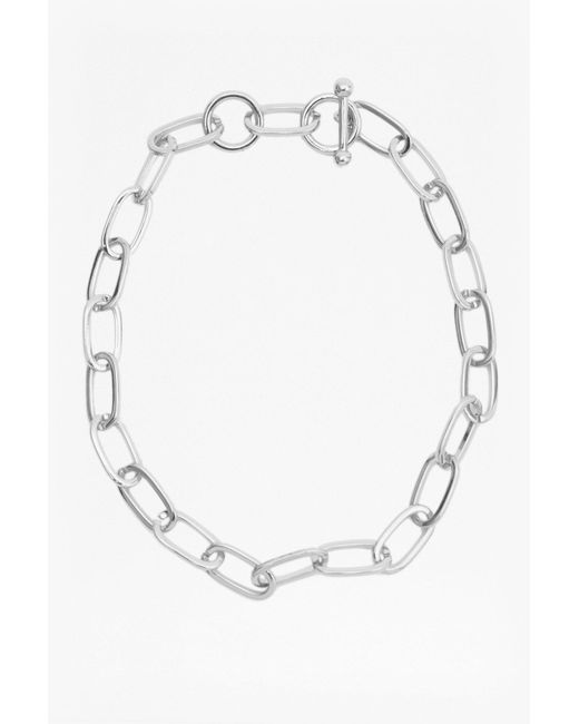 French Connection   Metallic Chunky Chain Choker   Lyst