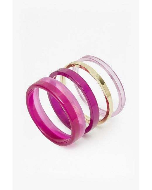 French Connection | Multicolor Colour Block Bangle Set | Lyst