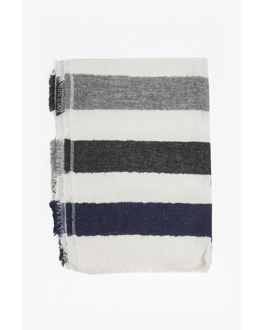 French Connection   Gray Philomena Striped Scarf   Lyst