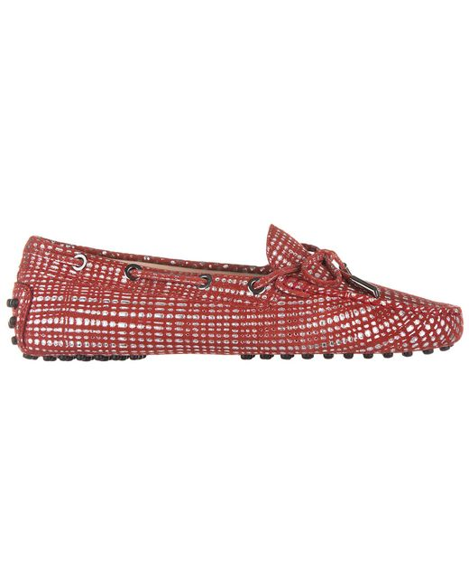 Tod's - Red Suede Loafers Moccasins Heaven Laccetto Occhielli - Lyst