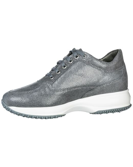 ... Hogan - Gray Shoes Leather Trainers Sneakers - Lyst ... 96b04b2dc18
