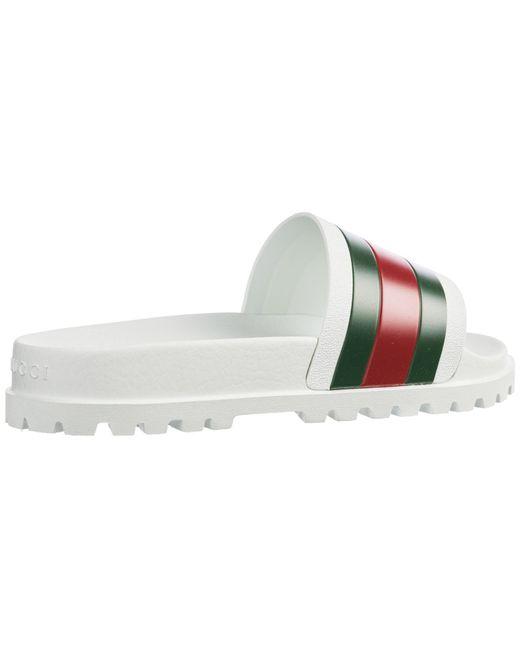 ffe7f190d65c ... Gucci - Multicolor Pursuit Track Rubber Pool Slides for Men - Lyst ...