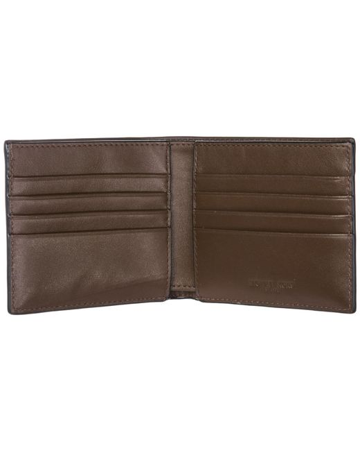 6b71164e4a4c ... Michael Kors - Brown Genuine Leather Wallet Credit Card Bifold Harrison  for Men - Lyst ...