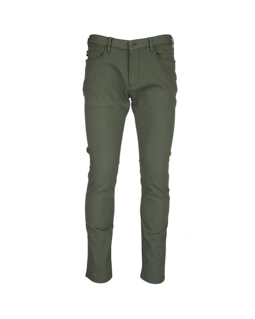 Emporio Armani - Green Trousers Pants for Men - Lyst