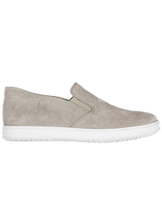 Hogan - Gray Suede Slip On Sneakers H168 for Men - Lyst