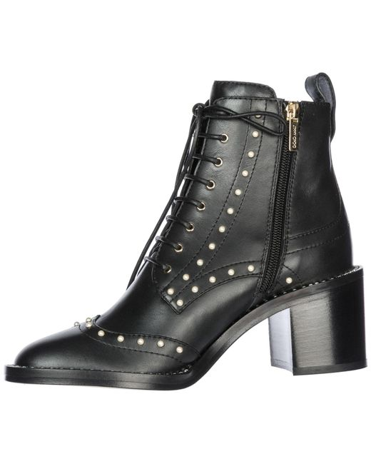 6055121ce ... Lyst Jimmy Choo - Black Women's Leather Heel Ankle Boots Booties Hanah  65 ...