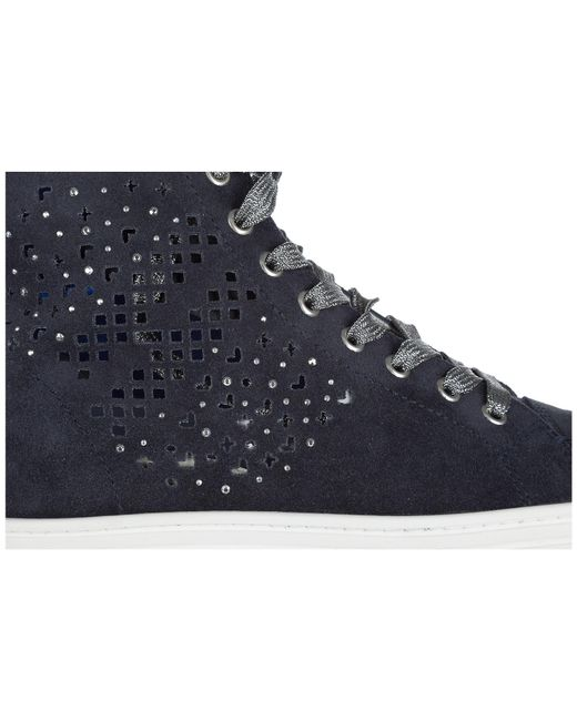 03abd28a45a ... Hogan Rebel - Blue Shoes High Top Suede Trainers Sneakers R182 - Lyst