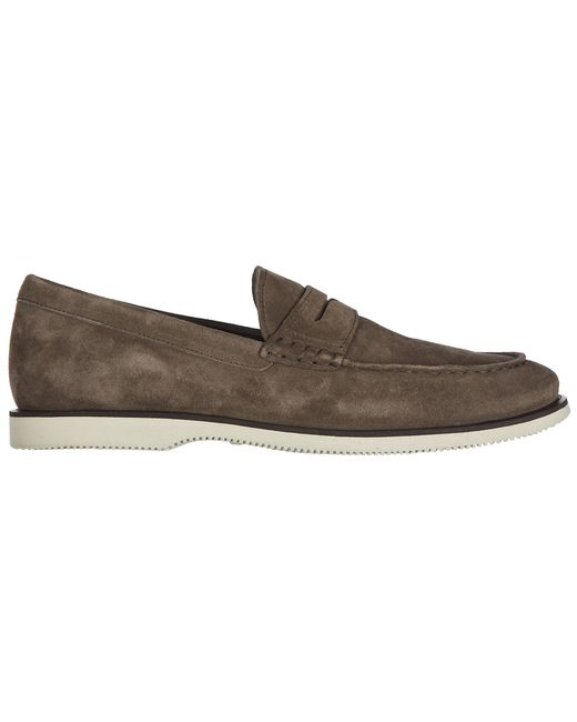 Hogan - Brown Suede Loafers Moccasins H262 for Men - Lyst
