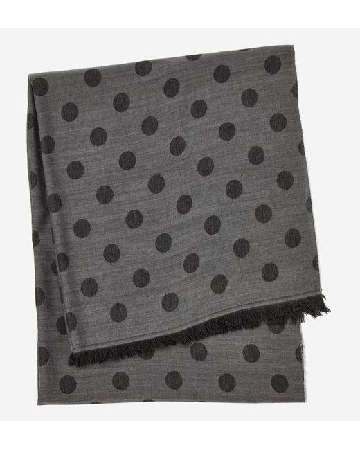Azzaro - Gray Echarpe en laine et soie à pois for Men - Lyst