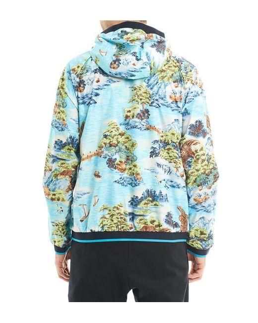 ... Polo Ralph Lauren - Blue Blouson coupe vent en nylon à imprimé paysages  en all over ... 53b4d641659e