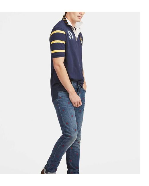301bfb13c9575d ... Polo Ralph Lauren - Blue Polo patch 9 Rugby Classic fit for Men - Lyst  ...