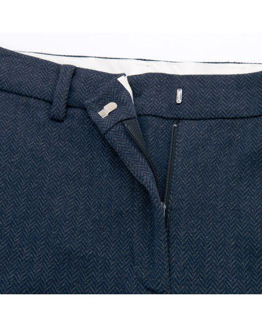 91157472 ... Gant - Blue Herringbone Jersey Pants - Lyst ...