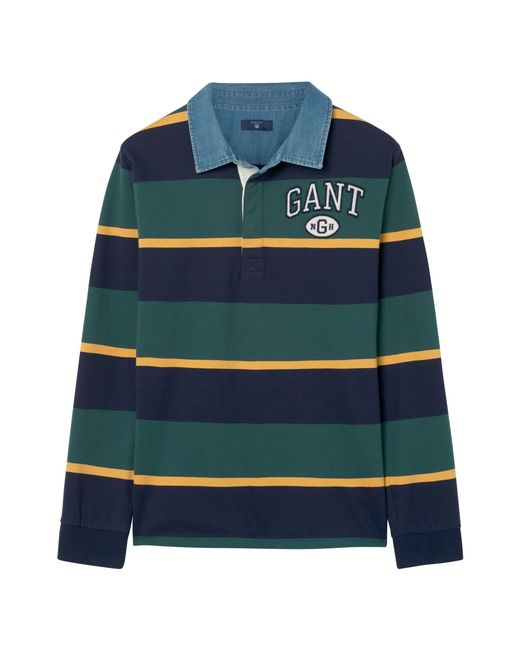 Gant Teen Collegiate Men in Rugger Striped Boys Green Lyst Heavy for fpUSwxfqr