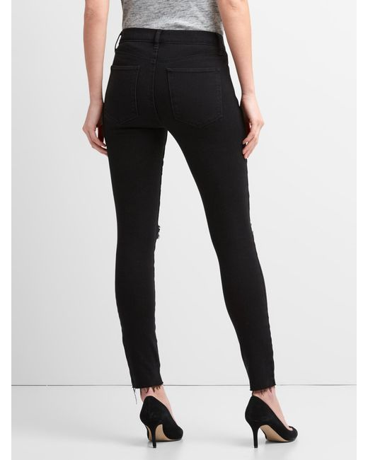 bcdb748d18 ... Gap - Black Washwell Mid Rise True Skinny Ankle Jeans In 360 Stretch -  Lyst ...