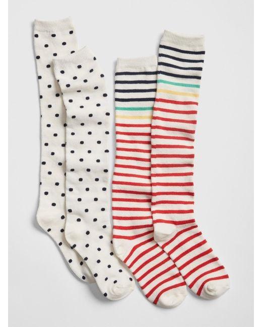 a7099bbc7 Gap - Multicolor Knee-high Socks (2-pack) - Lyst