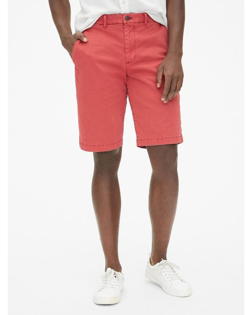 """Gap - Red 12"""" Vintage Shorts With Flex for Men - Lyst"""