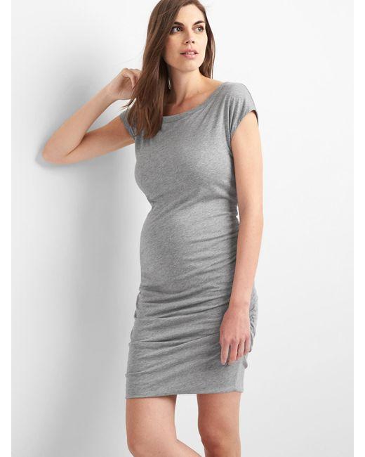 Gap - Gray Maternity Short Sleeve T-shirt Dress - Lyst