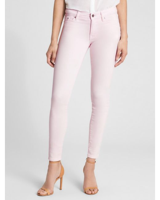acc2d7115eb52 GAP Factory - Pink Mid Rise Legging Skimmer Jeans - Lyst ...