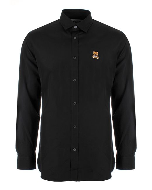 Moschino | Bear Logo Shirt Black for Men | Lyst
