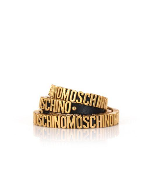 Moschino | Metallic Multi Bracelet Black/gold | Lyst