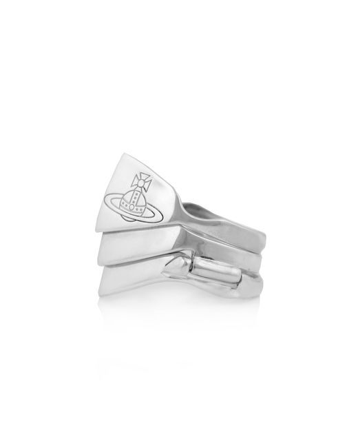 Vivienne Westwood - Metallic Knuckleduster Ring Silver - Lyst