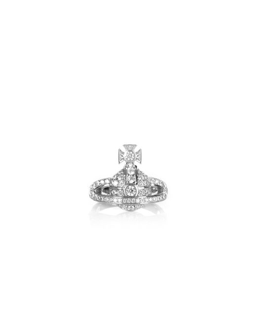 Vivienne Westwood - Metallic Mini Orb Ring Silver - Lyst