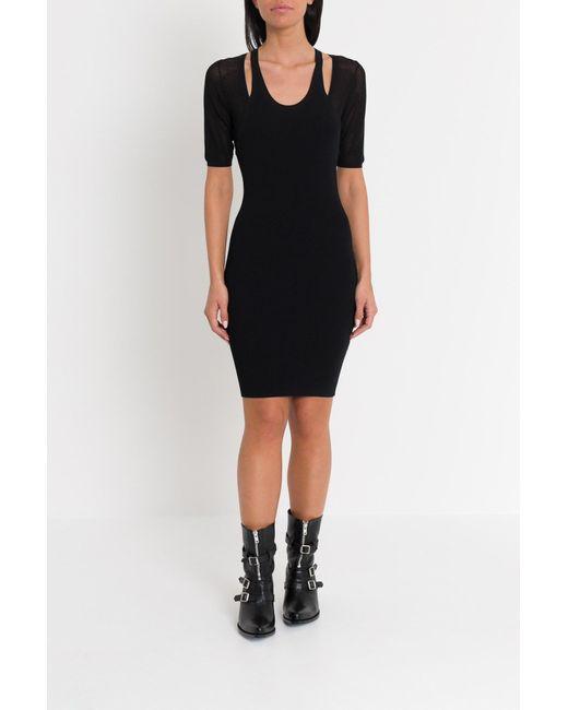 9993e72e624 T By Alexander Wang - Black Mesh Layering Dress - Lyst ...