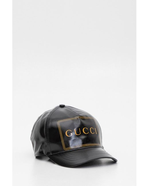 08a23ae75 Gucci Baseball Hat With Frame Print for Men - Lyst