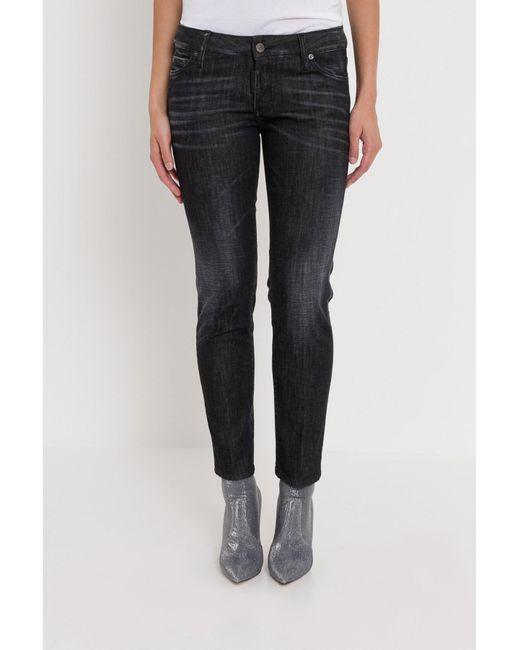 DSquared² - Black Jennifer Cropped Jeans - Lyst