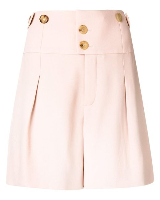 high-waisted buttoned shorts - Pink & Purple Chlo RfeuAJOcsS