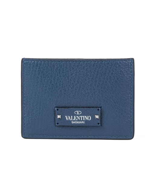 Valentino - Blue Garavani Logo Cardholder for Men - Lyst
