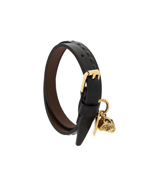 Alexander McQueen | Multicolor Skull Leather Bracelet for Men | Lyst