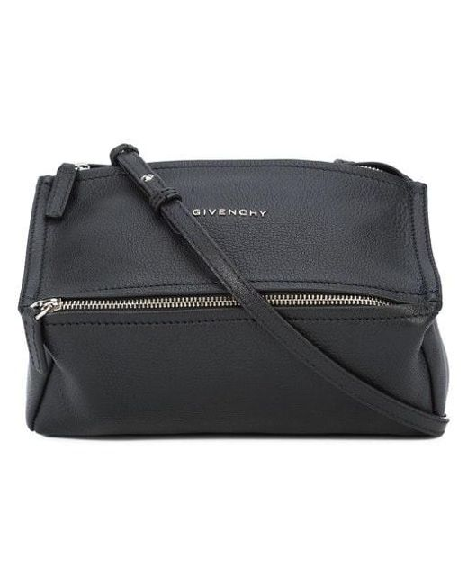 ce36d1f82bce Givenchy - Black Mini Pandora Bag In Grained Leather - Lyst ...