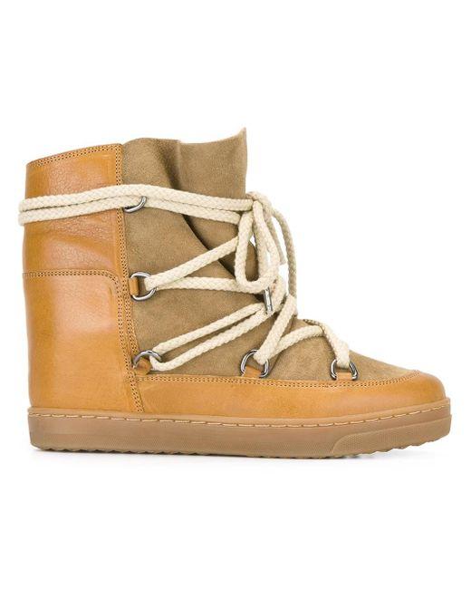 Isabel Marant - Brown Étoile Nowles Boots - Lyst