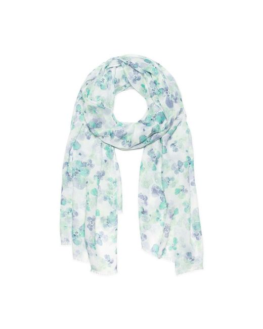 G.H. Bass & Co. - Blue Watercolor Floral Oblong Scarf - Lyst