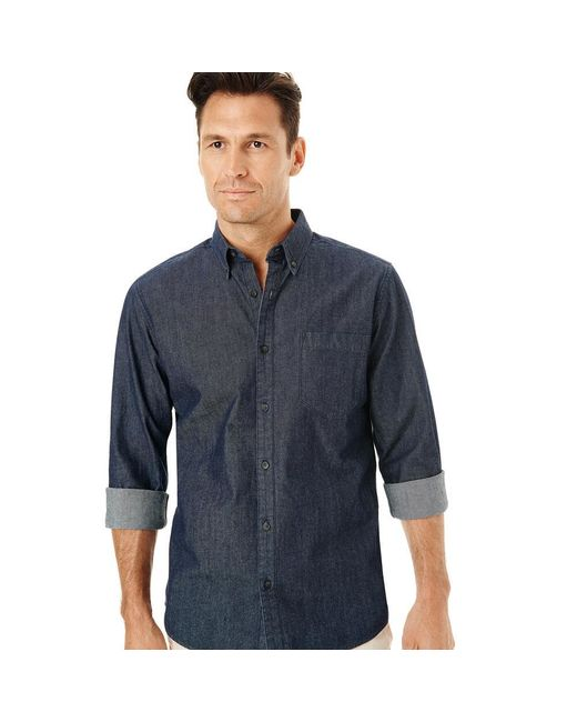 G.H. Bass & Co. | Blue Long Sleeve Chambray Shirt for Men | Lyst