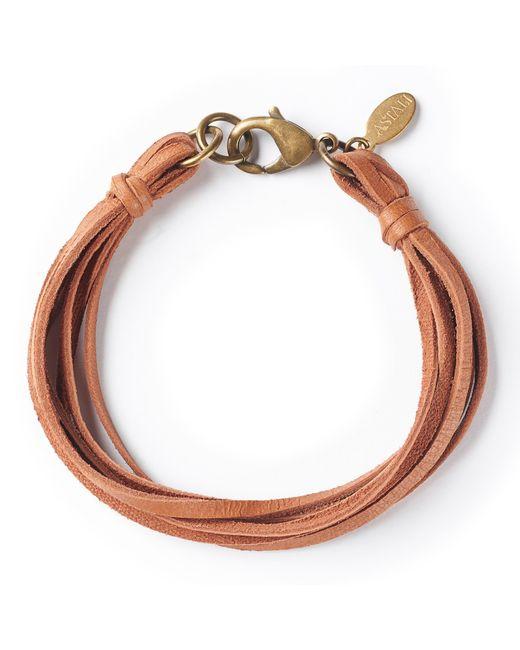 G.H. Bass & Co. - Multicolor Astali ® Deerskin Leather Bracelet - Lyst