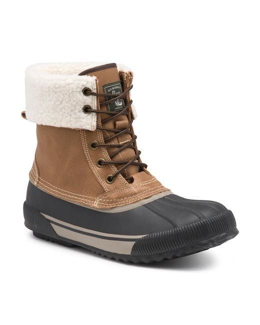 g h bass co jackson waterproof snow boot in brown for
