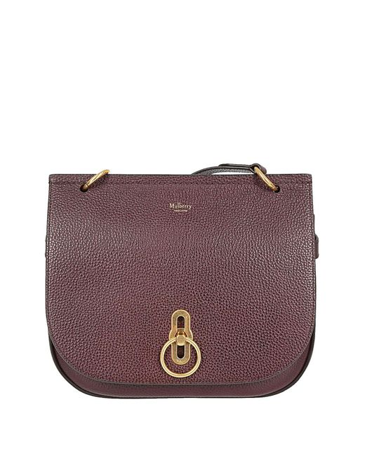 Mulberry - Purple MULBERRY Borsa amberley bordeaux - Lyst ... 96f69a92a8942