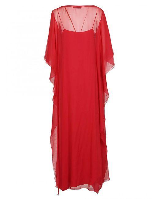 e8b81bd0878c ... Alberta Ferretti - Red ALBERTA FERRETTI abito lungo rosso - Lyst